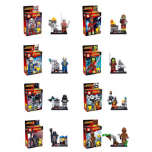 SY257 8pcs/lot Guardians of the Galaxy figures Rocket raccoon ronan/camora/star lord/Groot Building BlockToys toy bricks