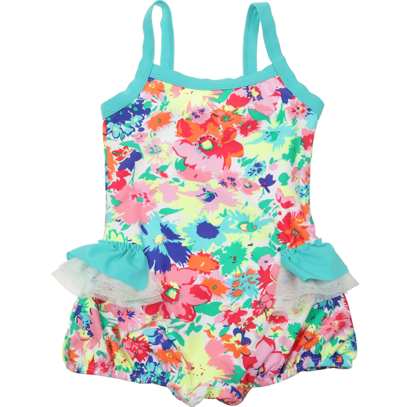 girl's swimwear Child swimsuit hot springs female child one-piece fashion baby bloomers