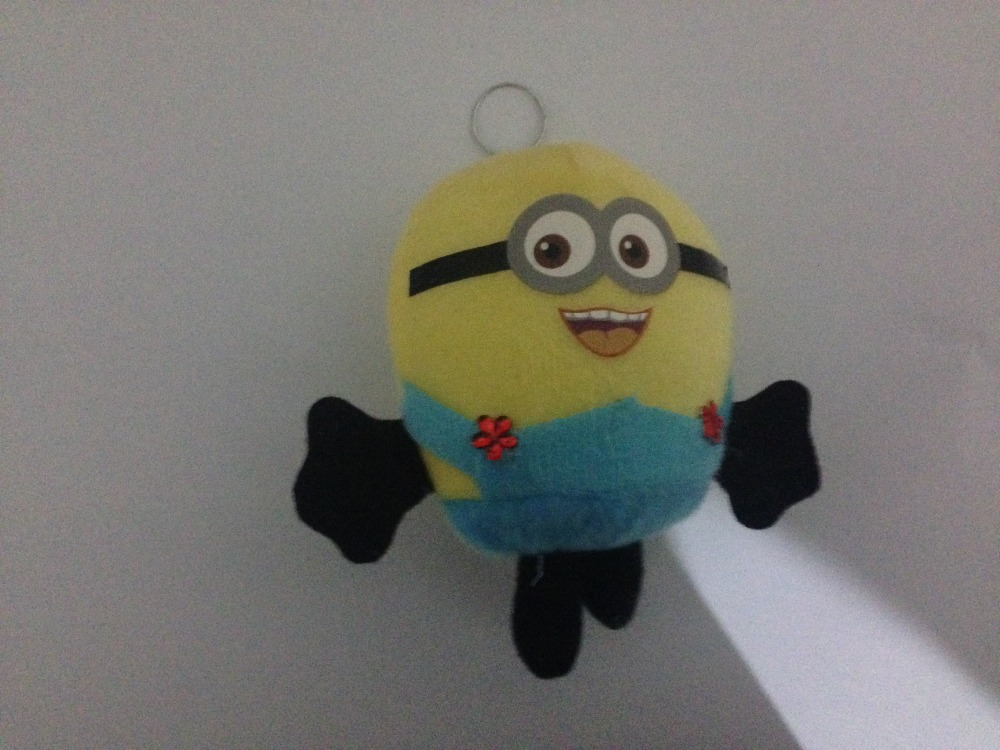 new plush animals Minions Despicable Me one piece 12cm small lovely doll kids toy hot sale(China (Mainland))