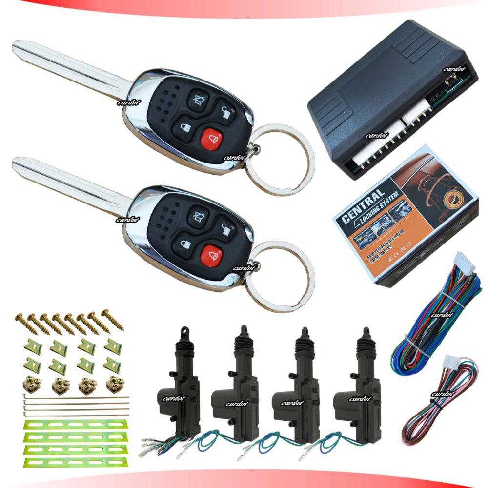 Hot selling Remote central lock ,KEYLESS ENTRY SYSTEM,car key remote with 4 functional keys,1 master,3 slaves,trunk release(China (Mainland))