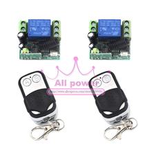 12 V 1CH канала RF беспроводная пульт дистанционного управления реле переключатель / радио система 2 Mini приёмник и 2 металл передатчик