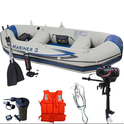 Thickening inflatable boat three speedboats on the inflatable kayak 3/4/5 boat fishing boats(China (Mainland))