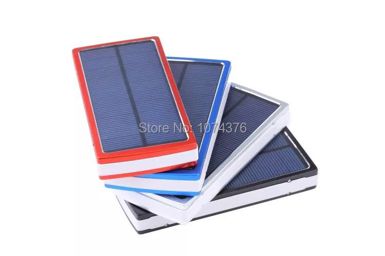 Hot Selling 20000mAh Solar Energy Charger USB 2 Solar Power Charger For Mobile Phones USB Battery Panel Power Bank Free Shipping(China (Mainland))