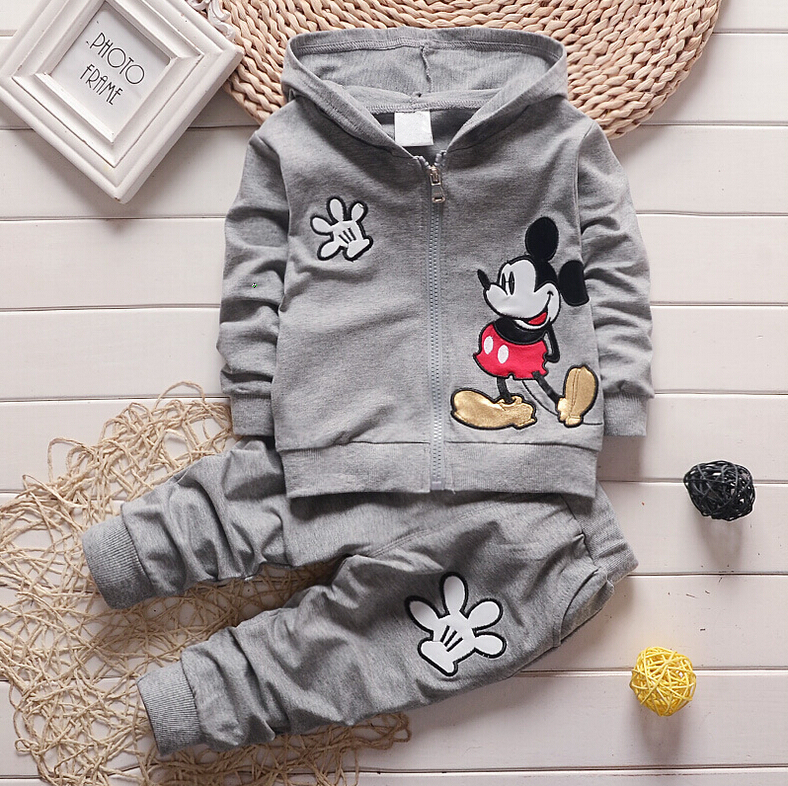 Fashion Sping Autumn Style Baby Cartoon Clothing Set Boys&Girls Coat+ Pant 2PCS Newborn Cotton Hoodies Kids Children Sport Suit(China (Mainland))