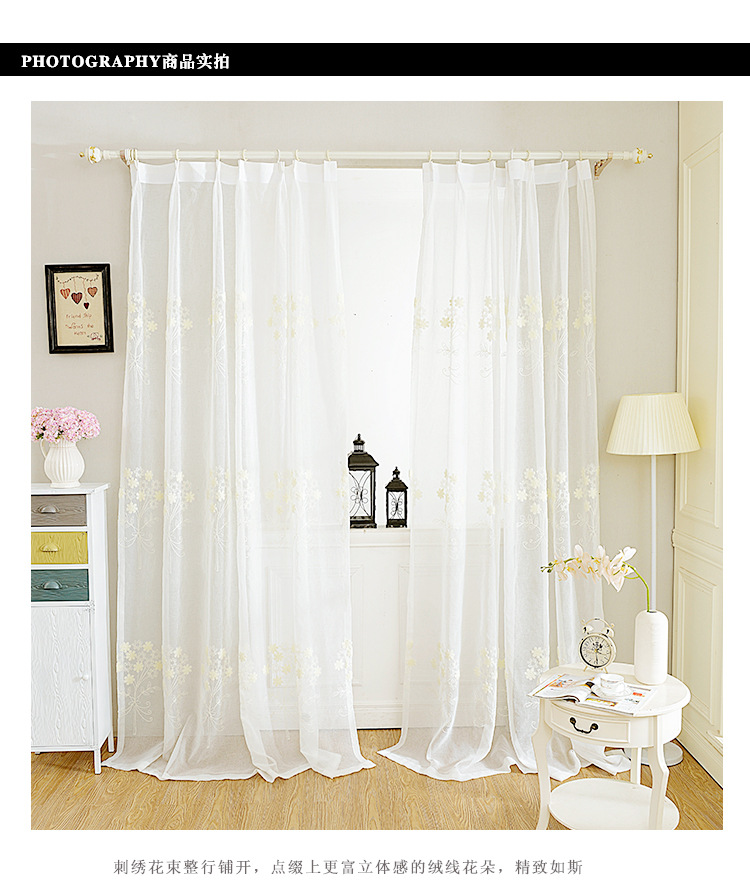 White color high end window tulle translucidus curtains for High end curtains and window treatments