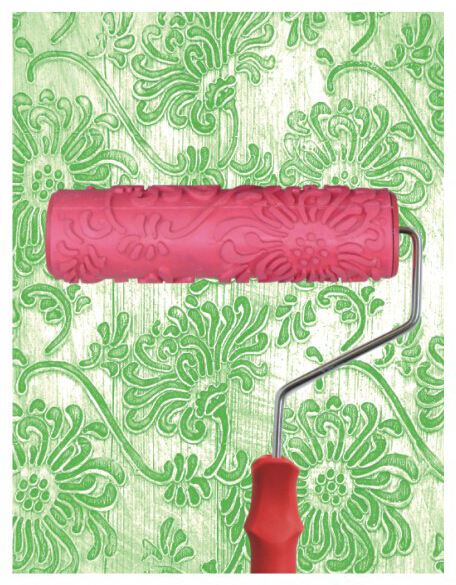 7inch patterned paint roller texture paint roller for wall for Wall painting utensils