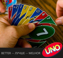 Uno transparent waterproof playing cards, UNO water proof board game gambling, family fun poker game russian rules. PY004(China (Mainland))