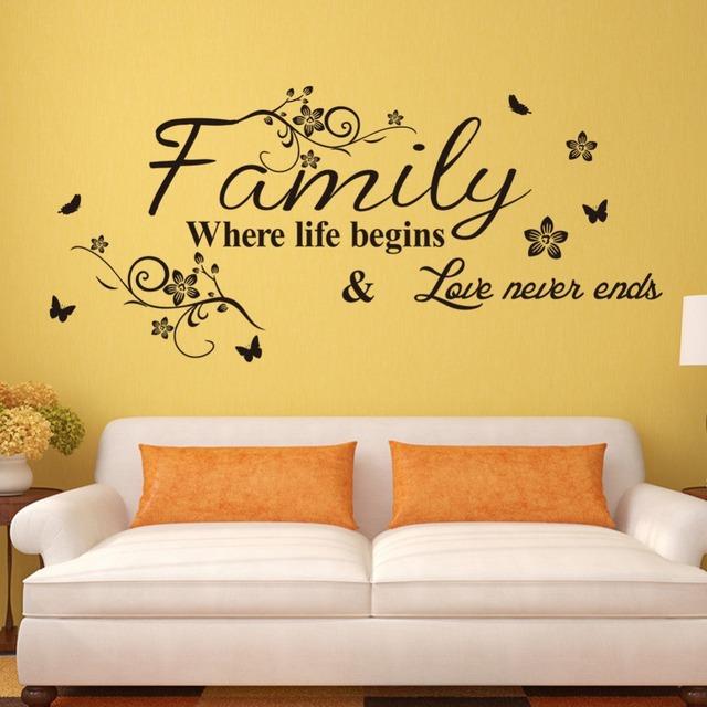 Семья мода творчество декор стикеров стены домой DIY съемный искусство стены винила наклейки наклейки дома настенной росписи decoration75 * 34 см