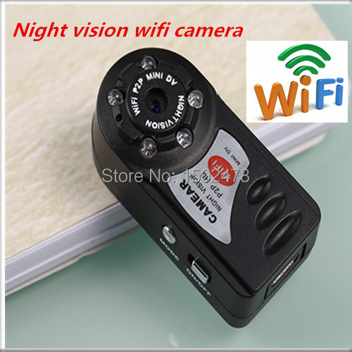 New arrival Q7 WiFi Camera Mini DV 480P DVR Wireless IP Camera Hidden Camcorder Video Recorder Camera Infrared Night Vision md81(China (Mainland))