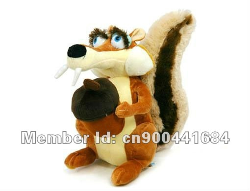 Free shipping-Cute Ice Age 3 Squirrel Girl 22cm Plush Stuffed Squirrel Animal toys Wholesaler,Collectible HOT sale Ice Age