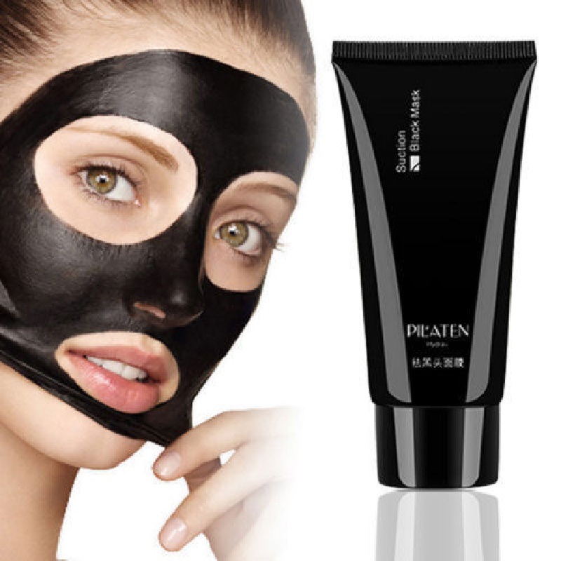 Pilaten collagen face mask suction Black mask deep cleansing Tearing style strawberry nose Acne remover black mud masks 60g(China (Mainland))