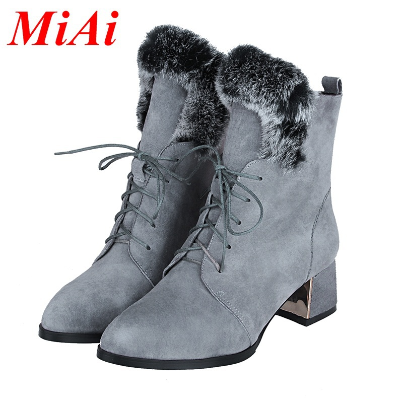 women shoes ankle boots 2015 new autumn winter genuine leather pointed toe boots mediym heels black boots women riding boots<br><br>Aliexpress
