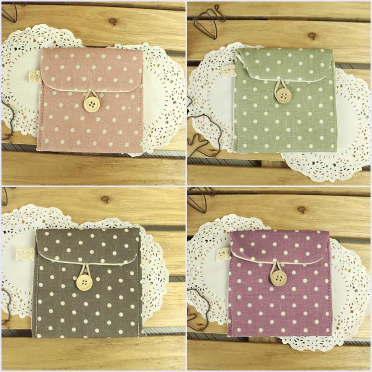 Zakka at home cotton bag sanitary napkin bag storage bag health cotton bags(China (Mainland))