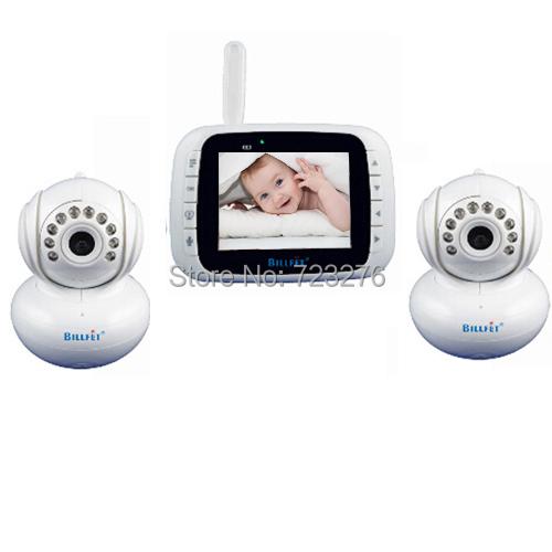 2015 video intercom wireless 2 camera Baby Monitors 3.5 inch LCD Digital Audio Video Baba Electronica NightVision kids lullaby(China (Mainland))