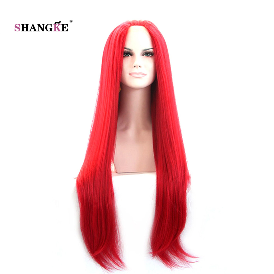Bright Red Lace Front Wig Costume And Wigs