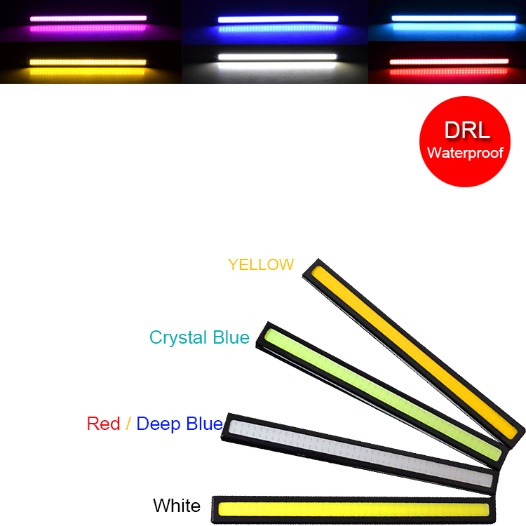 1 PCS Ultrabright 17cm DC12V COB LED Daytime Running light DRL Waterproof Car styling parking Light