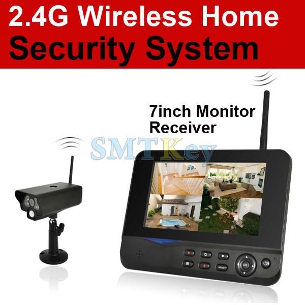 Система видеонаблюдения 8104J Wireless camera & DVR 2.4g 4/& DVR 7/32 DVR 8104J 7inch monitor wireless camera wireless 7inch lcd monitor