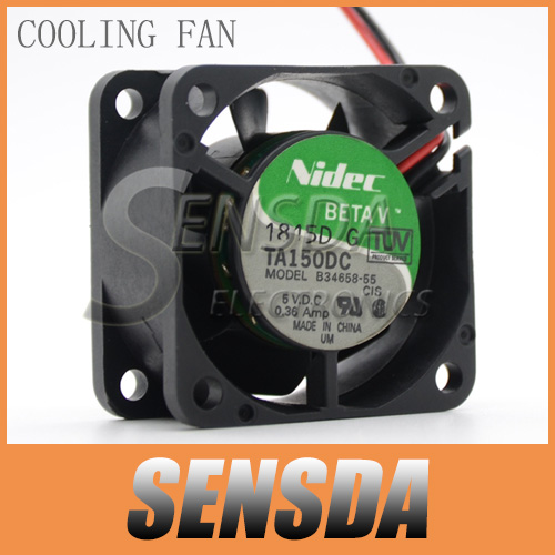 Free Shipping NIDEC 4020 TA150DC B34658-55 DC 5V 0.36A For Cisco switches cooling fan 40*40*20 mm 40mm(China (Mainland))