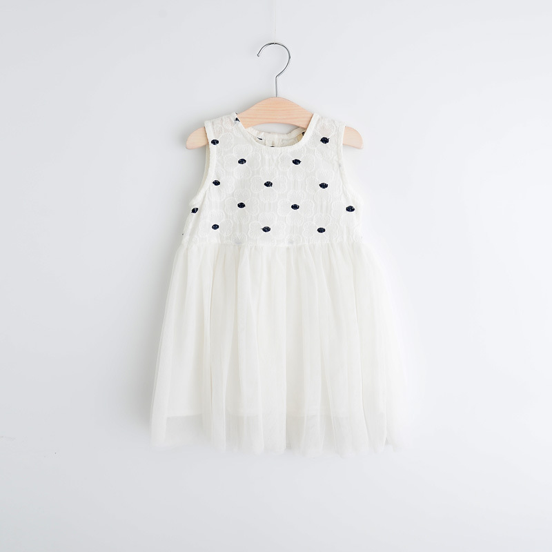 Childrens girls Flowers embroidered joining together gauze vest dress wholesale<br><br>Aliexpress