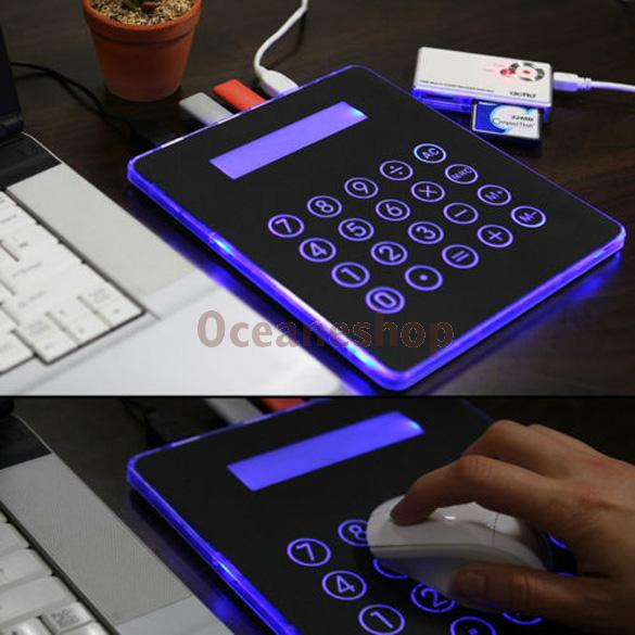 USB Powered Mouse Pad Mat Calculator USB Hub All IN One PC Computer Laptop(China (Mainland))