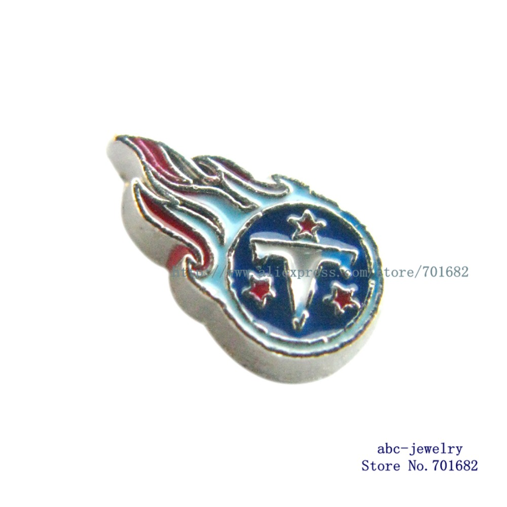 Tennessee Titans 10pcs floating locket charms the football teams as families friends gift for living locket FC1177(China (Mainland))