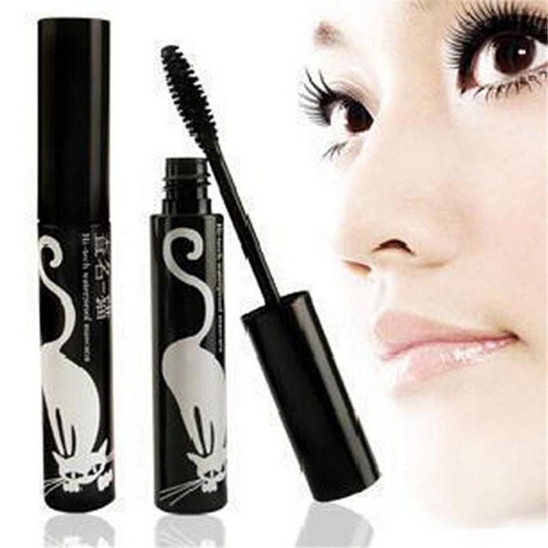 Professional Black Curving Curling Mascara Natural Thick Eye Lashes Eyes Make Up Beauty Eyelashes Tool Lengthening Mascara(China (Mainland))