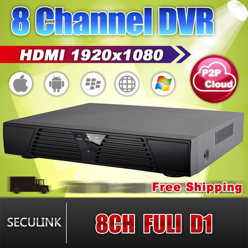 Free shipping 2014 new security camera system dvr 8 channel H.264 real time 960H  D1 network HDMI 1080P 8CH DVR recorder<br><br>Aliexpress