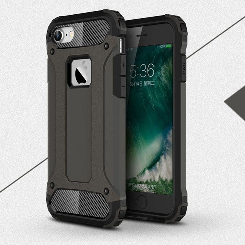 Drop Protection Mobile Phone Case Hybrid TPU Silicone Plastic Hard Armor Case For iphone 7 plus 5s 6 6s plus SE 5 Phone Covers(China (Mainland))