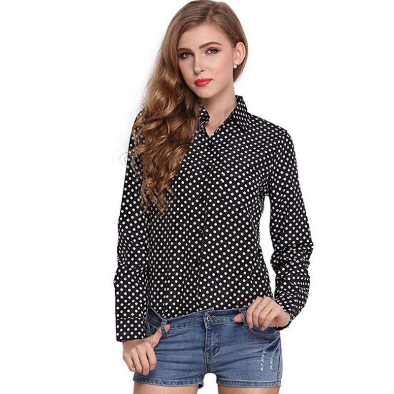 Women'S Black Polyester Blouses 108