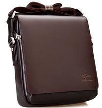 2015 Designer Kangaroo Brand men messenger high quality bags shoulder bag Genuine pu Leather Men Bag