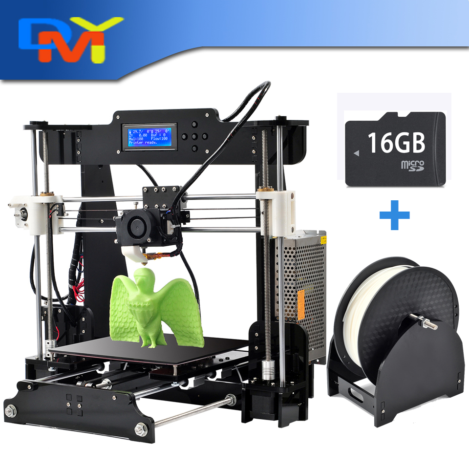 Newest 2016 Upgraded Quality High Precision Reprap Prusa i3 DIY 3d Printer kit with 1 roll