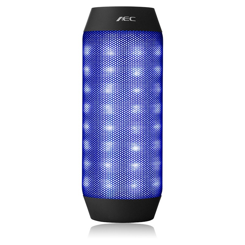 Portable Wireless Bluetooth Speaker AEC LED Light Car speaker with Stereo Super bass Subwoofer For Mobile Phone Card 2016 New(China (Mainland))