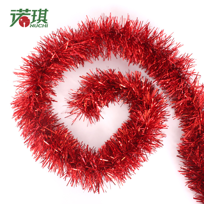 Christmas tree decoration 2m long 10cm 5 solid color Christmas tree ribbon garland