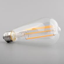 Vintage Edison E27 ST64 Artistical Efficient Filament Incandescent 220V/6W Practical Home Office Light Lamp Bulb(China (Mainland))