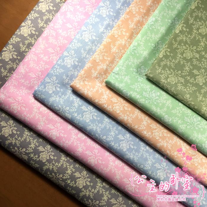 160cm50cm shabby chic flower vintage fabrics cotton cloth baby bedding linens pillow curtain diy