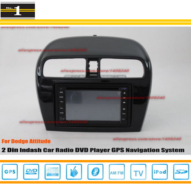 For Dodge Attitude 2012~2014 - Radio CD DVD Player & GPS Navigation System / Double Din Car Audio Installation Set(China (Mainland))