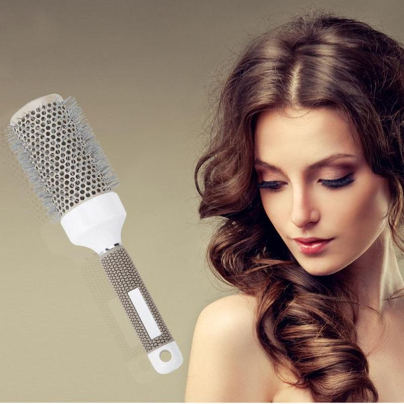 1Pc Round Hair Brush Ceramic Hair brush Hair Curling Comb Hair Styling Drying Comb Size 19,25,32,45,53mm Y1-5