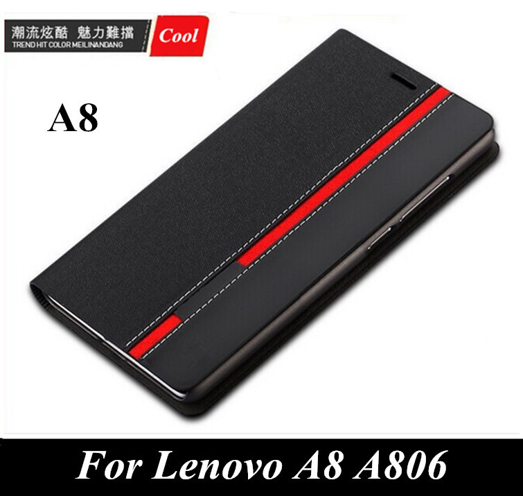 Гаджет  Luxury wallet bag stand Mixed colors Top PYTHORE Leather case For Lenovo A8 A806 A806T Phone cover with card slot None Телефоны и Телекоммуникации