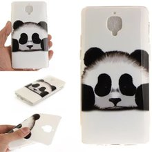 Buy Cute Panda IMD Pattern Soft Gel TPU Back cover case One Plus 3T Transparent Clear side Rubber case One Plus Three for $1.83 in AliExpress store