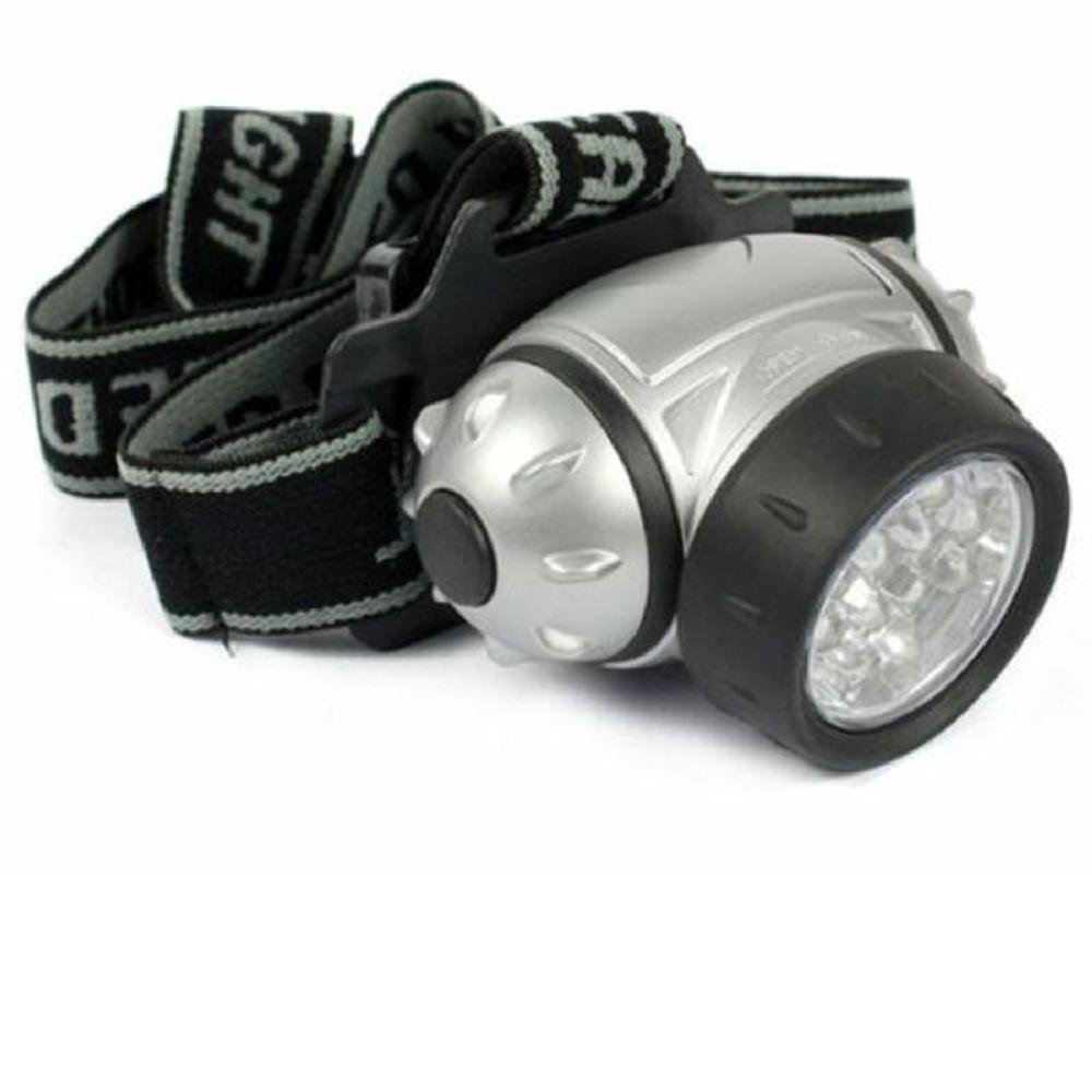 Free Shipping 12 LED Bright Headlight Torch Headlamp Head Lamp Light With Adjustable Strap