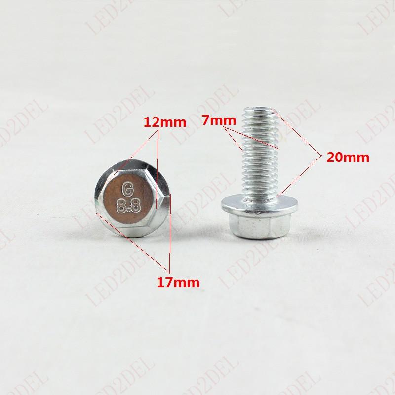 1-1-B Car Metal 12mm Hex Bolts Metric Thread Clips Retainer Auto Fender Body Fastener Rivet (100pcs)(China (Mainland))