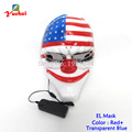 High grade Hot Halloween Mask LED Mask Flashing EL wire Glowing Flexible LED Neon light For