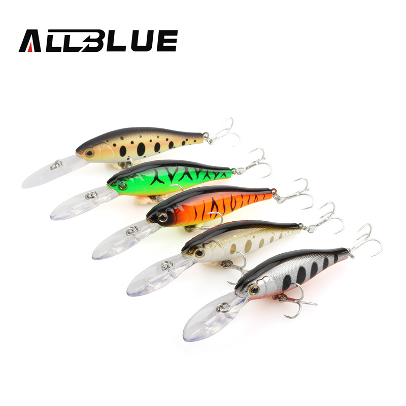 ALLBLUE 5pcs/lot Fishing Lures Minnow Wobblers 90mm/7g Bass Bait 3D Eyes Plastic Lure Isca Artificial peche Fishing Tackle(China (Mainland))