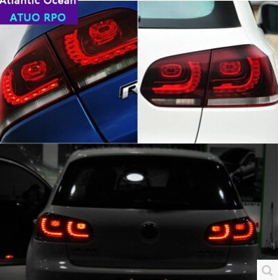 AUTO.PRO vw 2009-2013 golf 6 taillights R20 model VW golf MK6 led rear lights car styling golf MK6 led tail lamps led car lights(China (Mainland))