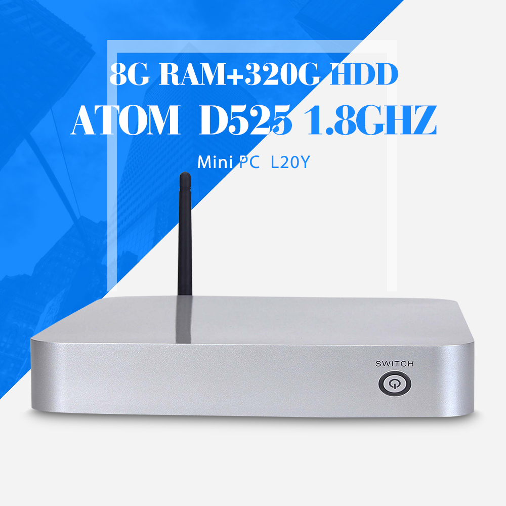 Fan Tablet Computer D525 DDR3 RAM 8G 320g HDD+WIFI Laptop PC Mini PC for office Can External Hard Drive Windows 7/8.1(China (Mainland))