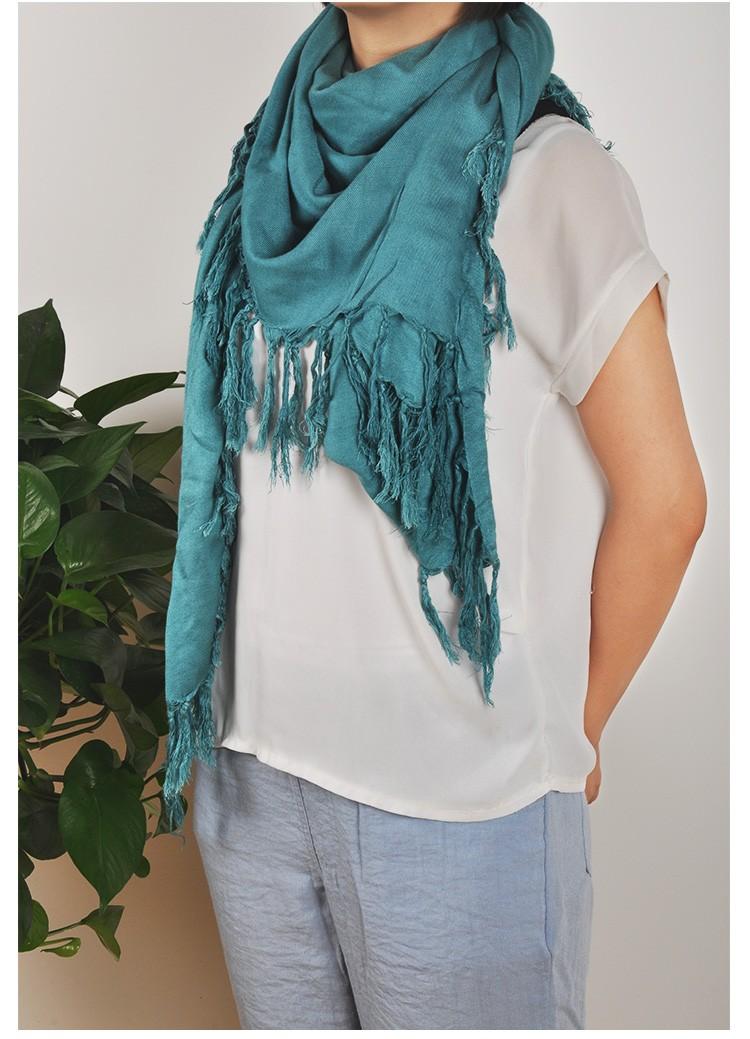Fashion cotton square Scarf winter Women Soild Scarves and Shawls Lady Pashmina echarpe foulard femme jersey hijab bandana