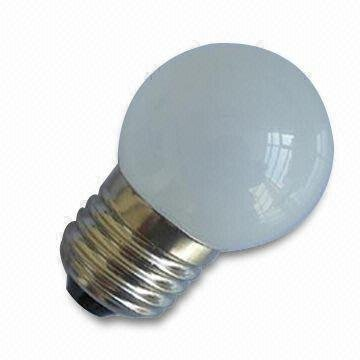 G40 LED Ball Bulb;AC120V/220V input;0.5W;E27 base;40*62mm;12pcs led;glass housing;orange color