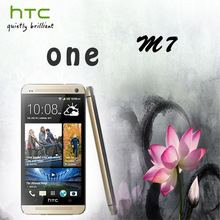 Original HTC ONE M7 32GB 4.7''1920x1080 Full HD Quad-Core 1.7GHz Android 4.1 3G GPS WIFI NFC Unlocked Mobile Phone Refurbished(China (Mainland))