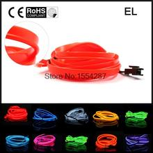 New 5M Neon Light EL Wire Rope Tube with single line Ciggar plug Controller for Car creative decoration  12v or 3v 10 colors