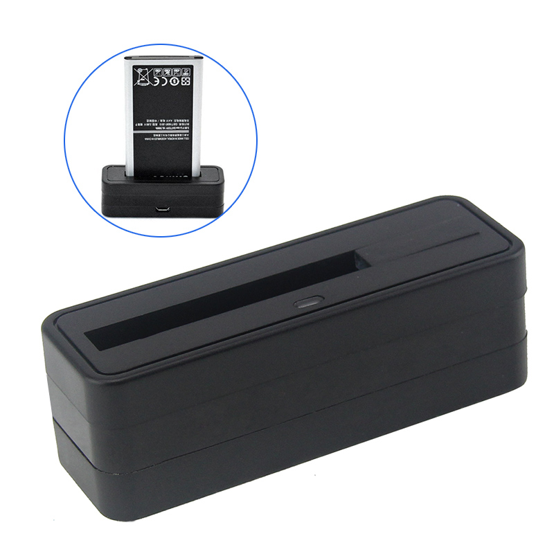 Mini Battery Charger Dock Stand Holder Cradle Black For Samsung Galaxy 9100 / I9220 / S4 / 9300 / 9200 / N7100 / NOTE3 / NOTE4(China (Mainland))